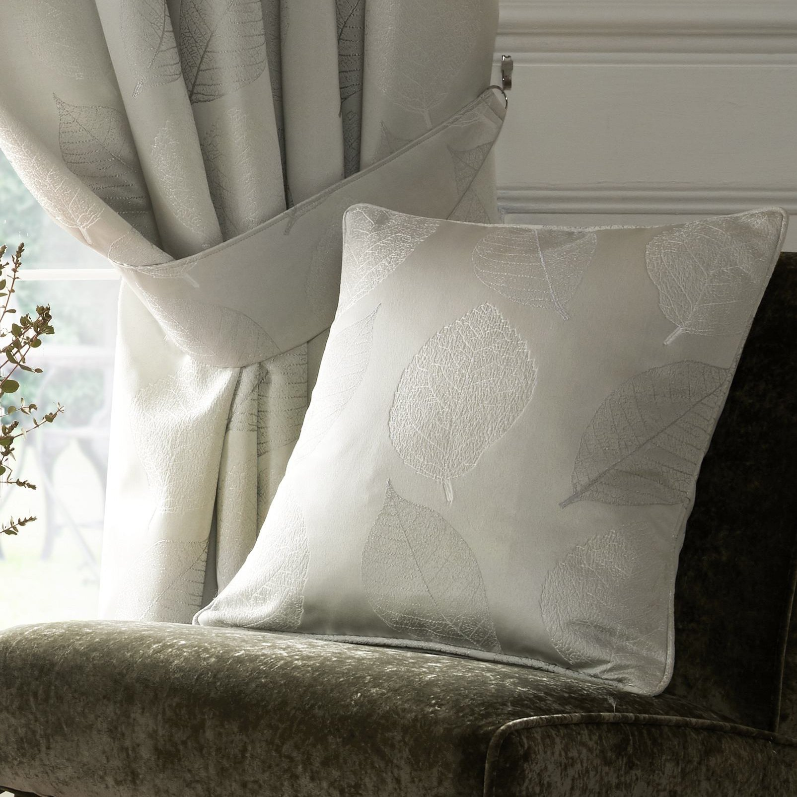 Village-fabrics-Curtains-Ashwell-Silver-Tiebacks-and-Cushion